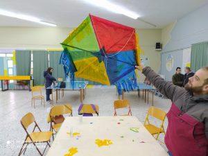 Εργαστήριο κατασκευής χαρταετού-Εξάσκηση στα τρίγωνα-πολύγωνα